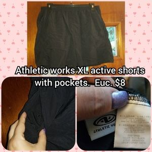 Athletic works size XL active shorts with pockets